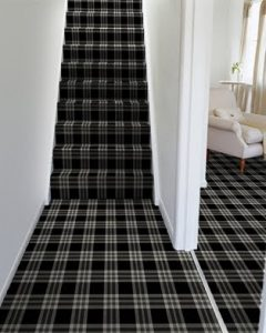 Brintons Abbotsford carpet fitted to hallway and stairs